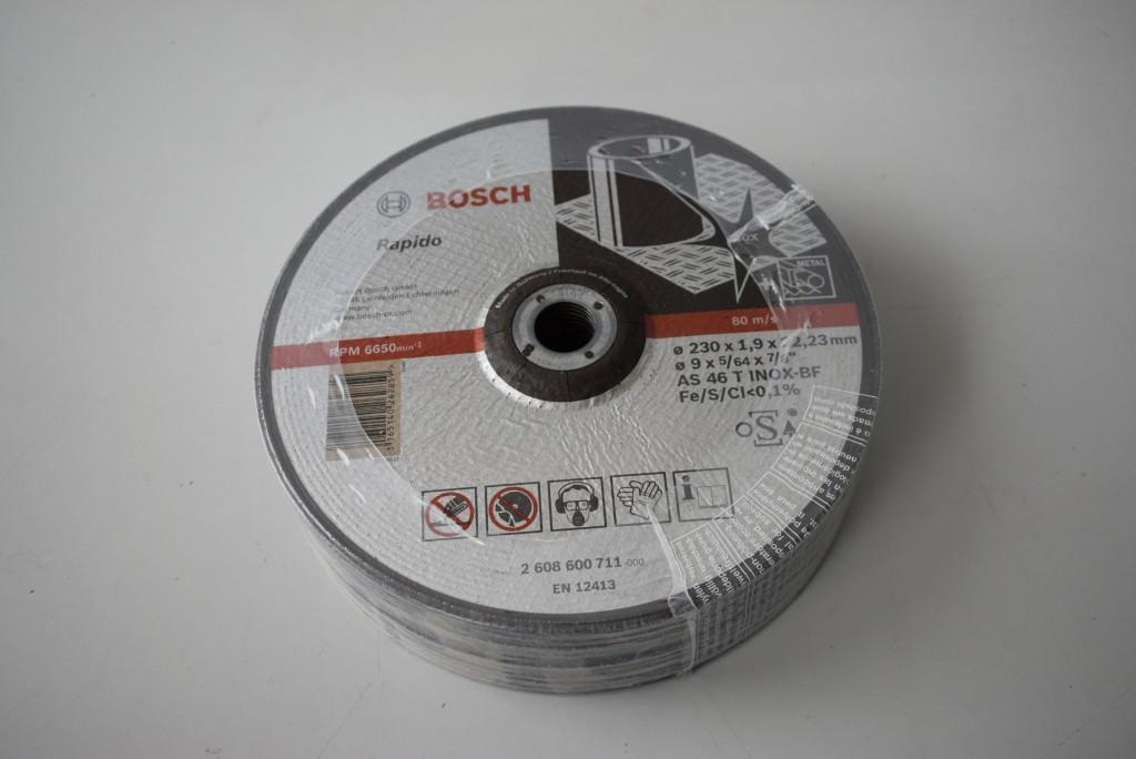 Lote 25 Uds. Disco de corte superino inox 230x1.9