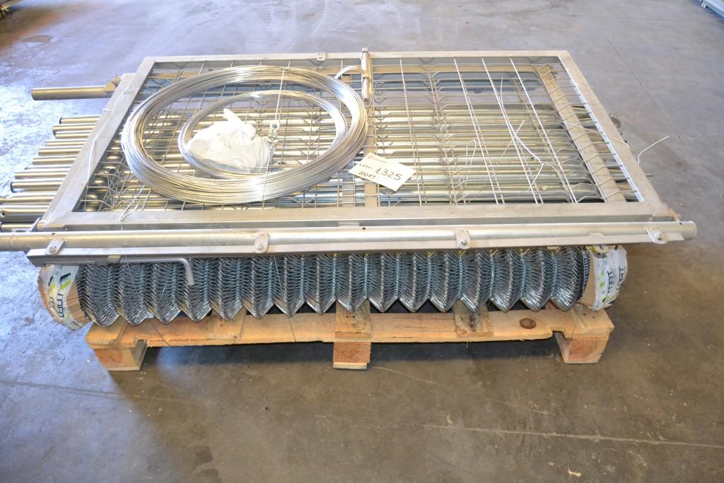 100 ML de Kit completo de malla galvanizada Simple Torsión de 1.50 MT para cerramientos.