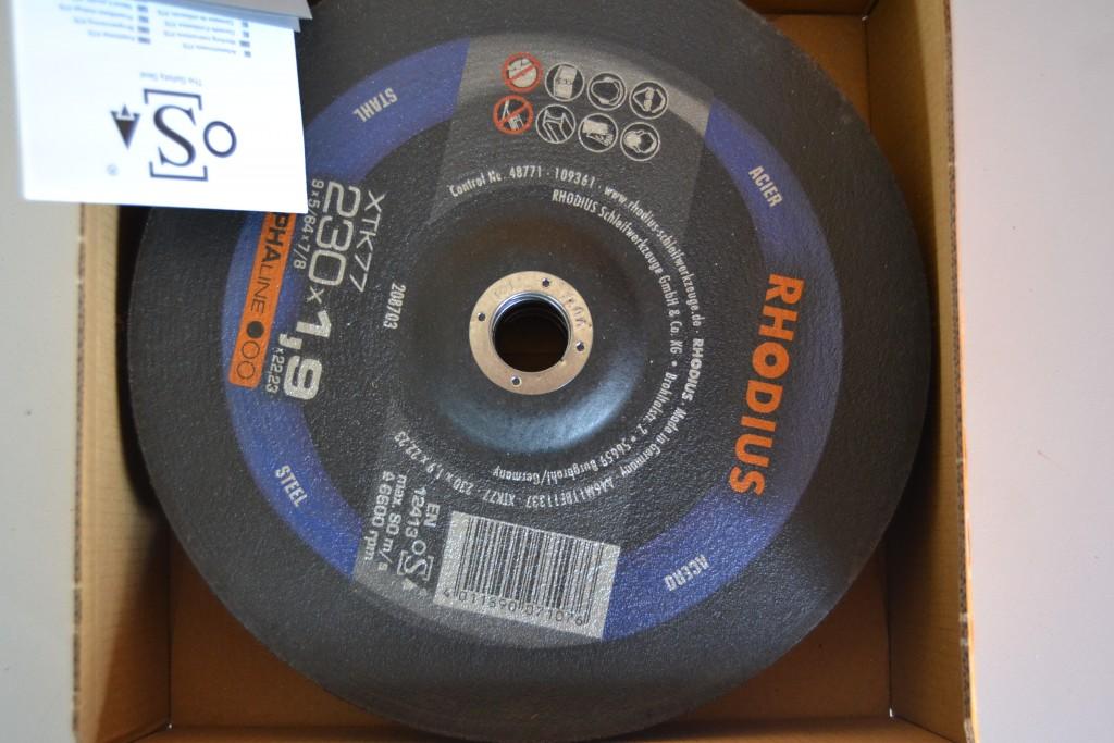 50 UDS. DISCOS DE CORTE METAL RHODIUS 230 MM