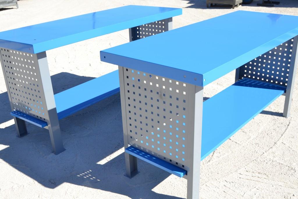 NUEVO 5 Unidades de Mesas de Trabajo Azul