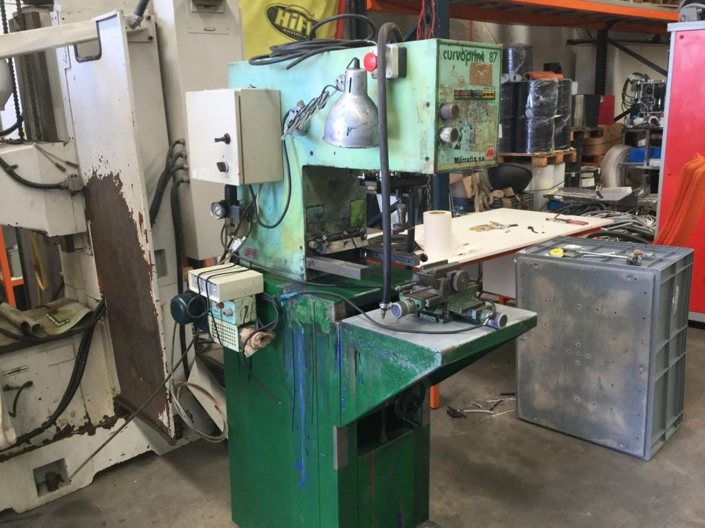 Maquina de Impresión y marcado Marcafix Curvoprint 87