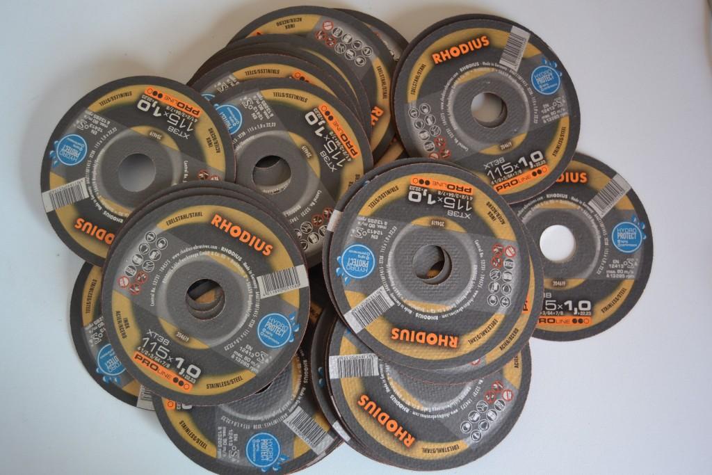 100 UDS. DISCOS DE CORTE RHODIUS 115 MM