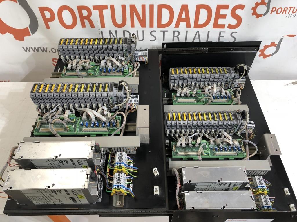 2 PANELES ELÉCTRICOS CORREDERAS CON FUENTE DE ALIMENTACIÓN MULTISALIDA LAMBDA VEGA 450