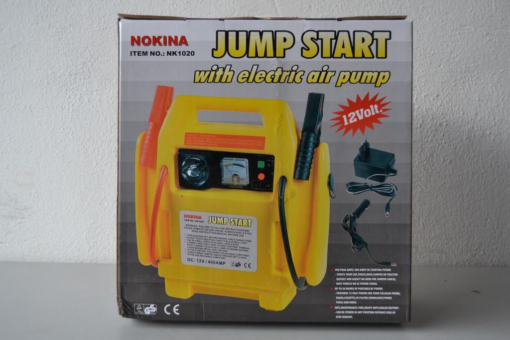 Cargador de batería y compresor de aire portatil jump start