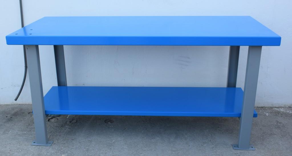 banco de trabajo met lico de carga alta azul